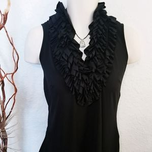 Ruffled Tank Top | Milano | Women's L
